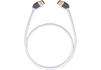 OEHLBACH High-Speed-HDMI®-Kabel mit Ethernet Shape Magic 1000 10m High-Speed-HDMI-Kabel, Weiß,
