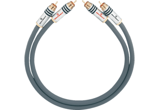 OEHLBACH NF-Audio-Cinchkabel, symmetrisch aufgebaut NF 14 Master Set 2x2,5m, NF-Audio-Chinchkabel, 2500 mm, Anthrazit