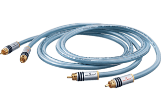 OEHLBACH XXL® Series 2 NF-Audio-Cinchkabel 2x0,5m, Audio-Cinchkabel, 500 mm, Blau