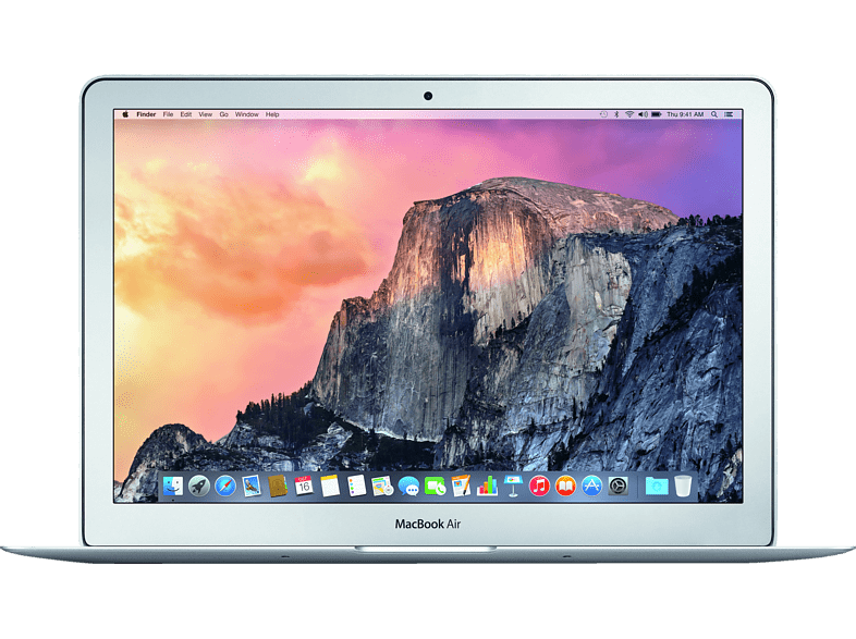 MacBook Air mit deutscher Tastatur, Notebook mit 13.3 Zoll Display, Core™ i5 Prozessor, 4 GB RAM, 256 GB Flash, Intel® HD Graphics 6000, Silber
