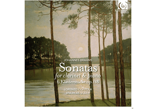 Lorenzo Coppola, Andreas Staier - Brahms: Sonatas For Clarinet And Piano Op. 120 - (CD)