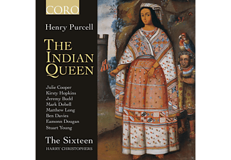 Julie Cooper, Kirsty Hopkins, Jeremy Budd, Mark Dobell, Matthew Long, Ben Davies, Eamonn Dougan, Stuart Young, The Sixteen - The Indian Queen - (CD)