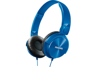 Auriculares con cable - Philips SHL3060BL/00, Tipo DJ, plegables, azul