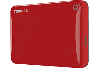 TOSHIBA Canvio Connect II, 1 TB HDD, 2.5 Zoll, extern, Rot