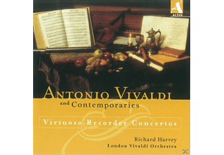 Richard Harvey (dir) London Vivaldi Orchestra - Virtuose Blockflötenkonzerte - (CD)