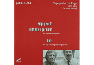 John (komponist) Cage, John Cage - Cage Performs Cage-Empty Words - (CD)