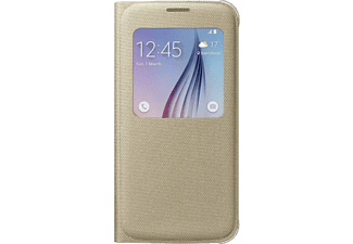 SAMSUNG S-view Cover Galaxy S6 Fabric Gold - (EF-CG920BFEGWW)