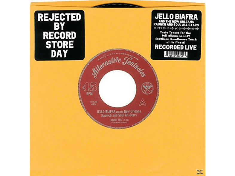 Jello -and The New Orleans Raunch And Soul Biafra - Fannie Mae/Just A Little Bit [Vinyl]