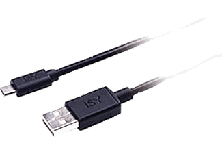 ISY Micro USB Data Cable 1.2m Black - IWC 1000