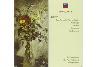 Sir Peter Pears, Purcell Singers, Imogen Holst, Norbert Brainin, Edward Selwyn, Cecil Aronowitz, Viola Tunnard, English Chamber Orchestra, Peter Graeme, Richard Adeney - Four Songs For Voice & Violin, Part-Songs, Terzetto, Six Canons, Six Choruses - (CD)