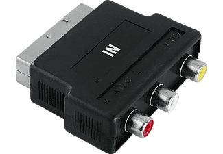 HAMA Video Adapter, 3 RCA sockets (video/audio L a. R) - Scart plug - (122241)