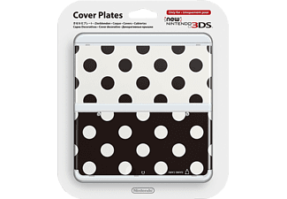 NINTENDO New 3DS Cover Plate - Prickigt Svart/Vit