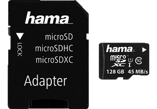 HAMA 114736 + Adapter/Foto, Micro-SDXC, 128 GB, 45 MB/s