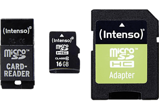 INTENSO Εκθεσιακό Προϊόν Micro SD Card Class 10 incl. SD  / USB adaptor 16GB - (3413770)