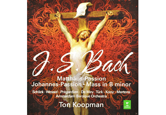 VARIOUS, Amsterdam Baroque Orchestra - Matthaus-Passion - Johannes-Passion - Mass In B Minor - (CD)