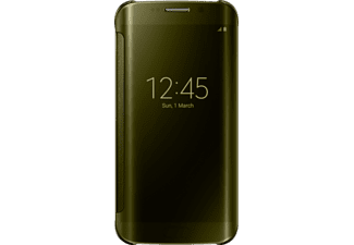 SAMSUNG S6 edge Clearview Cover Goud
