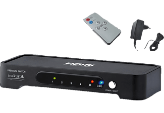 IN AKUSTIK Premium HDMI Switch 4 <gt/> 1 High Speed 1er Set  HDMI Splitter