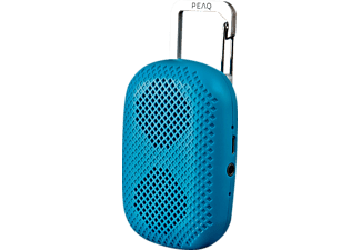 PEAQ PPA10BT-BL Portable Mini Bluetooth Speaker, blau
