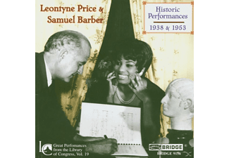 Samue Leontyne Price (sopran) - Historic Performances (1938 & 1953) - (CD)