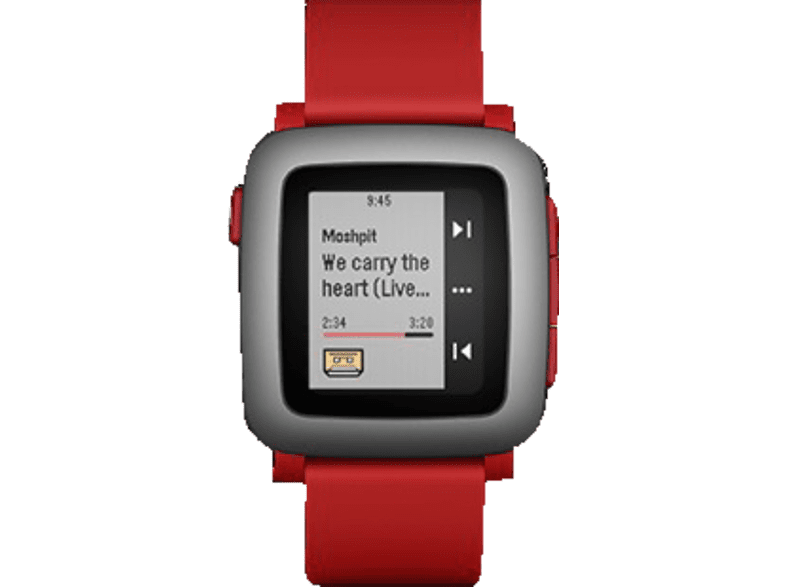 PEBBLE  Time Smart Watch Smartwatch, Rot | 00855906004351