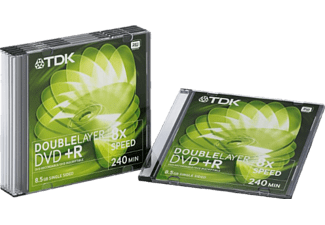TDK 5PACK DVD+R85DLEB 8.5 GB 240 min
