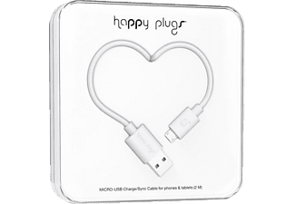 HAPPY PLUGS Câble microUSB Charge/Sync Blanc (153252)