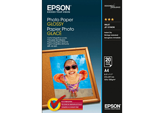 EPSON A4 Photo Paper Glossy - 20 Φύλλα (200gsm) - (C13S042538)