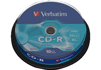 VERBATIM CD-R Extra Protection 10τεμ.- (43437)
