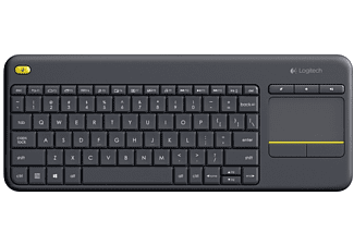 LOGITECH K400 Plus Wireless Touch Keyboard Zwart