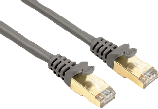 HAMA CAT 5e Network Cable STP, gold-plated, shielded Grey, 1.50 m - (00041894)