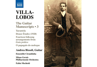 Ensemble Cirandinha, Minas Gerais Philharmonic Orchestra, Bissoli Andrea - Villa-Lobos: The Guitar Manuscripts Vol.3 - (CD)