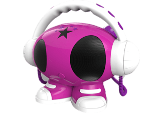 BIGBEN AU342512 MP3 Karaoke Roboter Mp3-Player (1 GB, Rosa/Weiß/Lila)