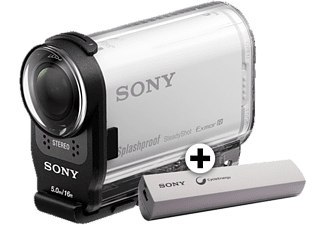 SONY HDR-AS200VT με  Κιτ ταξιδίου + Powerbank CP-ELS - (HDRAS2VTCPDI.YH)