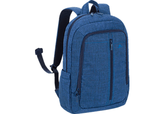 "RIVACASE 7560 Laptop Canvas Backpack 15.6"" Blue"