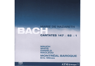 White, Milnes/Montreal Baroque - Bach:Cantatas For Mary/Sa-CD - (SACD Hybrid)