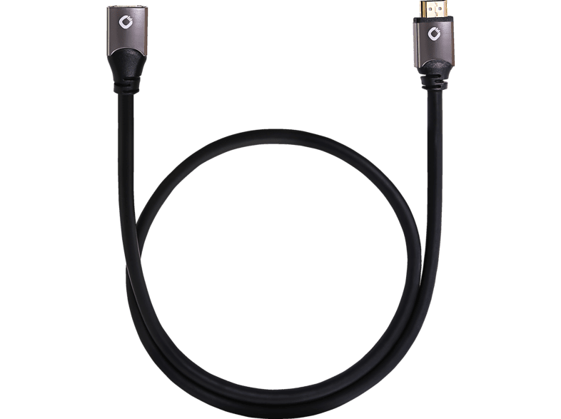 OEHLBACH  High Speed HDMI® Verlängerungskabel mit Ethernet Black Magic E 1,2 m Kabel, Schwarz | 04003635924471