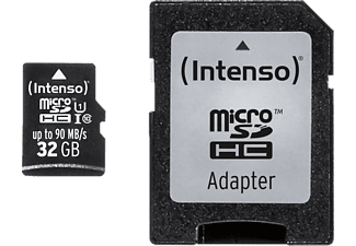 INTENSO 3433480, SDHC, 32GB, 90MB/s - microSDHC, Class 10, Ultra High Speed (UHS-1)