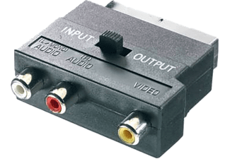 VIVANCO 42021 9/132-N 3-RCA SCART Adaptör