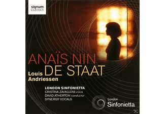 London Sinfonietta, Christina Zavalloni, David Atherton, Synerg, Zavalloni/London Sinfonietta/+ - De Staat/Anais Nin - (CD)