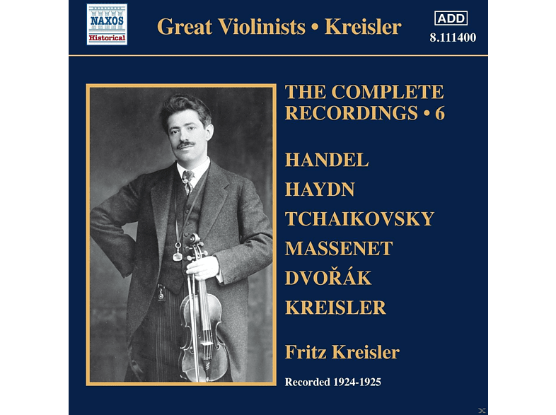 Fritz Kreisler, VARIOUS - Complete Recordings 6 [CD]