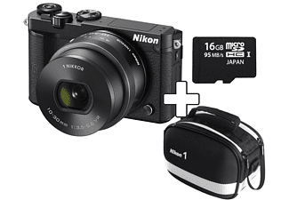 NIKON 1 J5 + 1 Nikkor VR 10-30 mm PD-zoom + tas + 16GB Zwart