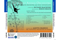 Martin Brabbins, Bbc No Of Wales - The Great Animal Orchestra [CD]