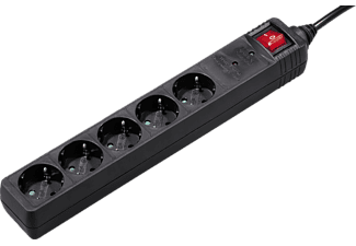 HAMA 121917 5-WAY POWER STRIP OVERVOLTAGE PR. 1.4M BLK