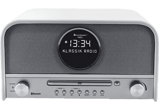 SOUNDMASTER NR850WE, Digitalradio, UKW, DAB, DAB+, Weiß