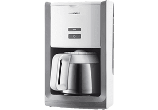 grundig km 8280w kaffeemaschine white sense kaffeemaschine mit isolierkanne in wei edelstahl. Black Bedroom Furniture Sets. Home Design Ideas