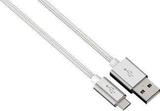 HAMA Color Line, Micro-USB-Stecker, 0.5 m, Weiß