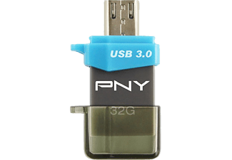 PNY OTG Duo-Link OU3, USB-Stick, USB 2.0, 32 GB