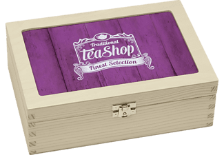 CONTENTO 866379 TEEBOX Traditional Tea Shop Finest Selection Teebox