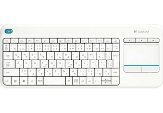 Teclado inalámbrico - Logitech K400 plus, Wireless, Touch, Blanco