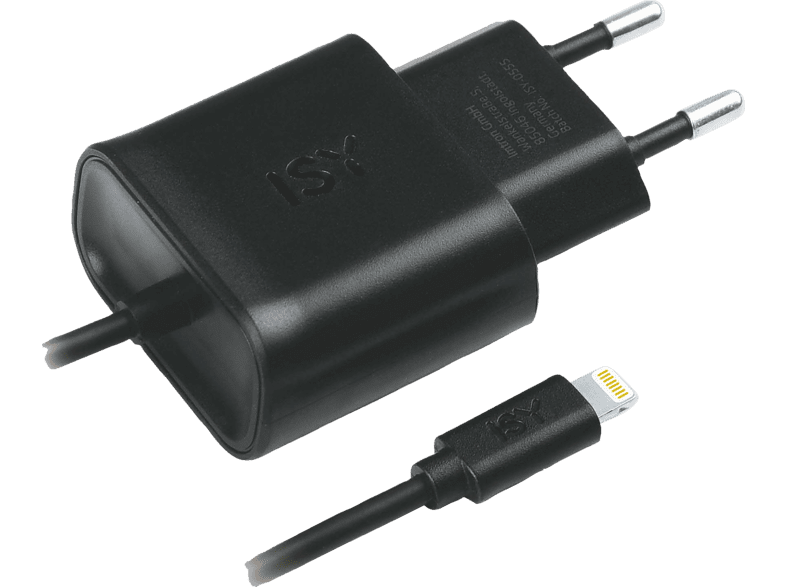 ISY USB Wall Charger with lightning cable, 2.4 A Ladegerät
